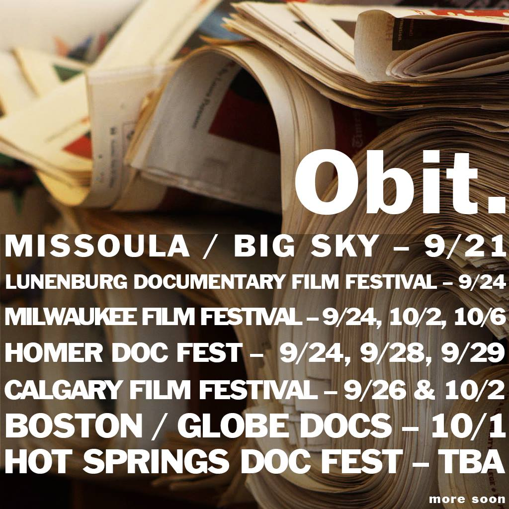 Obit 2016 Fall Fest Schedule