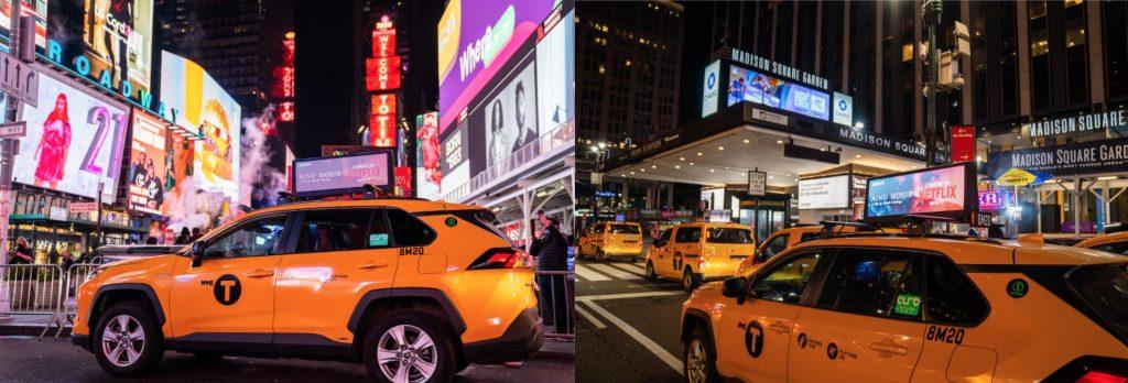 Ainu Mosir Ad on NYC Cabs